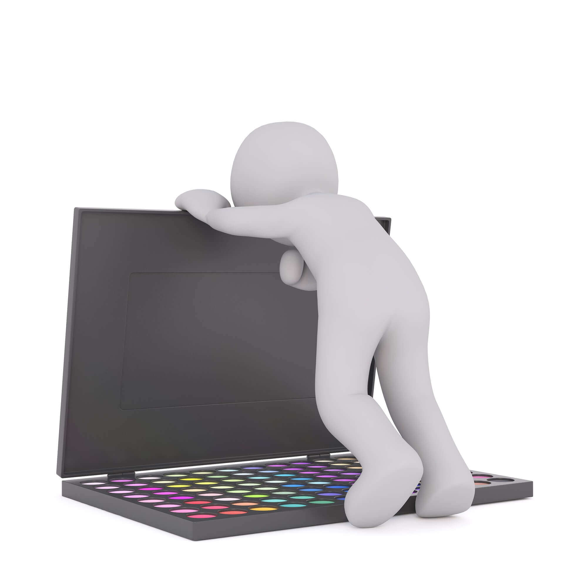 Student preparing for online tutoring